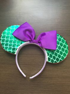 Little Mermaid Inspired Minnie Ears by MagicalMinnies on Etsy