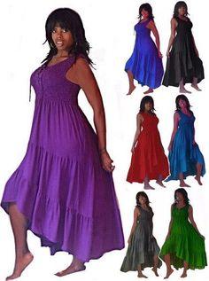 @H229 MAXI LOVELY DRESS SMOCKED LACING TIERS RUFFLES MADE 2 ORDER LOTUSTRADERS #Lotustraders #Maxi #Casual