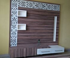 Lcd wall units family rooms that exploit the cornor space open up whatever is lot of the space for more versatile settlement, Lcd Wall Design, Lcd Unit Design, Wall Unit Designs, Living Room Tv Unit Designs, Bed Design, House Design, Tv Unit Decor, Tv Wall Decor, Wall Tv