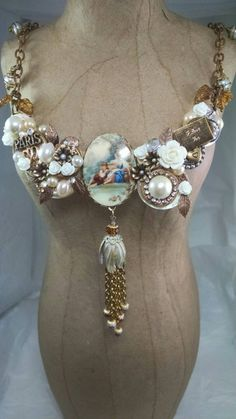 Check out this item in my Etsy shop https://www.etsy.com/listing/247539611/ooak-romantic-assemblage-necklace