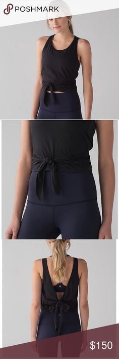 Lululemon Tie Tank 6 NWT Brand new. CHEAPER ON OTHER SITES. Prices are firm on posh.  I'm not a lulu store so don't expect lulu prices. I can post these items on other sites for lower prices. Email me if you are interested. My address is on top of my closet.  Posh takes a 20% profit so I'm not willing to lose money. I am a lulu collector 😍 & all items were bought for my personal use. I just have more than I use... lululemon athletica Tops Tank Tops