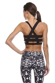 black and white print, and this sports bra back.