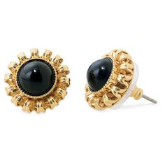 Stella & Dot Gigi Studs ($24) ❤ liked on Polyvore featuring jewelry, earrings, stella & dot, accessories, black jewelry, stella dot earrings, orange jewelry, stud earrings and post earrings
