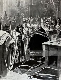British History, Royalty, Illustration, The obilation of the sword at. Prince Of Orange, Defender Of The Faith, Tragic Love Stories, Queen Of England, Westminster Abbey, Defenders, British History, Sword, Love Story