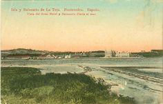 Vista do Gran Hotel Balneario da Toxa dende o mar