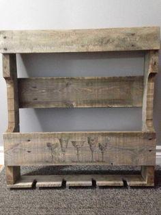 Rustic Pallet Wine Rack Pallet Shelves & Pallet Coat Hangers