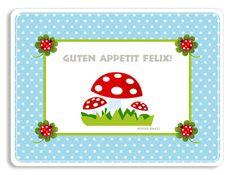 Tischset Platzset für Kinder von Taufgeschenke & Geschenkideen zur Geburt & Hochzeit von Levar Design. Kinderzimmerbilder, personalsiertes Geschirr aus Melamin  auf DaWanda.com