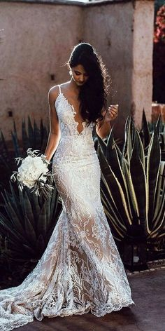 Wonderful Perfect Wedding Dress For The Bride Ideas. Ineffable Perfect Wedding Dress For The Bride Ideas. Popular Wedding Dresses, Dream Wedding Dresses, Bridal Dresses, Wedding Gowns, Party Wedding, Wedding Ideas, Lace Weddings, Wedding Planning, Strap Wedding Dresses