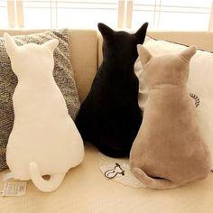Description: Super cute soft plush back shadow cat seat sofa pillow cushion. - Description: Super cute soft plush back shadow cat seat sofa pillow cushion… Check more at 5 - Sewing Pillows, Diy Pillows, Sofa Pillows, Throw Pillows, Funny Pillows, Wash Pillows, Pillow Ideas, Sofa Throw, Creative Birthday Gifts