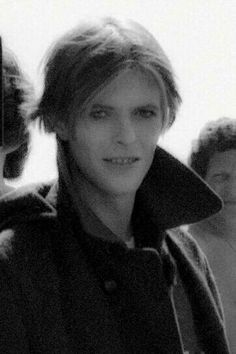 David Bowie on set, mid-1975