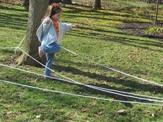turn your backyard in to a homemade obstacle course #backyardfun #campsunnypatch