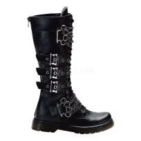 Men's/Unisex 20 Eyelet Knee Combat Boot With Brass Knuckles-Chain