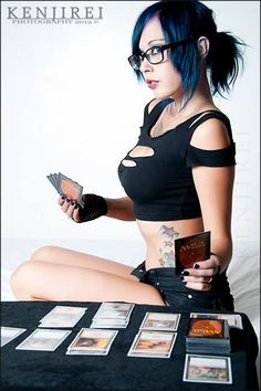 Dyed hair, tattoos, and Magic the Gathering