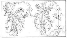 Shawkl: Ornate Vintage Alphabet Motif