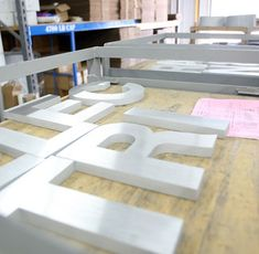 Durable precision-cut metal letters with high pressure water jet and lasers. Stylish enough for an elegant front entry, yet tough enough for the great outdoors, our flat cut metal letters and flat cut metal logos are made true, from high-grade plate metals.