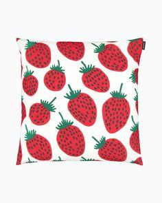 Strawberry Farm, Marimekko, Throw Pillows, Live, Design, Toss Pillows, Cushions, Decorative Pillows