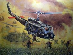 US Huey in battle