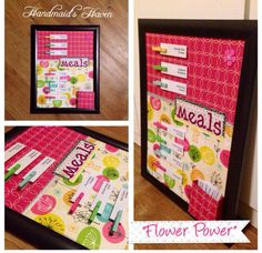 'Flower Power' Meal Planner. $50 + postage or local pick up Springfield Lakes. Visit my FB page 'Handmaid's Haven' for more info or to place an order.