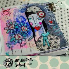 I love Art Journal School! #Artjournal #artjournaling #Artjournalschool http://www.artjournalschool.com