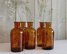 Amber glazen fles. Apotheek de fles. Amber door ohlalacamille