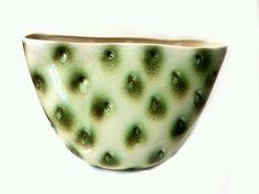 RARE Royal HAEGER OSTRICH VASE Vintage 1950's pottery R1559-S Hickman White