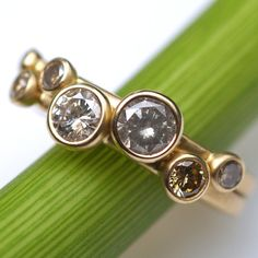 Diamond Nesting Rings - One Of A Kind - Kyleanne Metals, Etsy