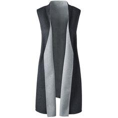 e3fd5bd94e848 Lands' End Women's Plus Size Long Vest ($100) ❤ liked on Polyvore featuring