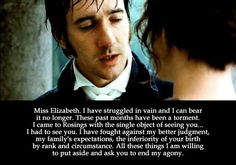 Mr. Darcy: Showing the boys how not to propose since 1813.