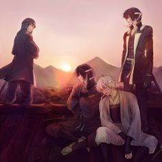 Sakata Gintoki, Takasugi Shinsuke, Katsura Kotaro and Sakamoto Tatsuma | Gintama
