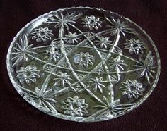 "Vintage EAPC Anchor Hocking Star of David 11"" PLATTER - EC  $19.99 H"