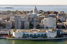 Monona Terrace and the Capitol make downtown almost too beautiful to be true.