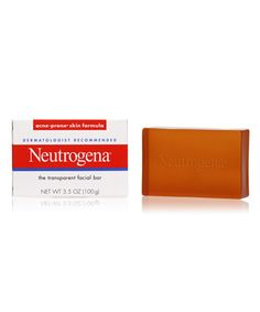 Neutrogena transparent facial bar for acne prone skin.