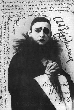 anyaloves:  Alexander Vertinsky as Pierrot  c.1918