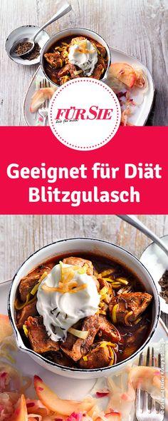 Rezept für Diät Blitzgulasch – Keep up with the times. Fondue, Breakfast, Traditional Christmas Food, Almased Recipes, Kaiserschmarrn, Goulash, Morning Coffee, Morning Breakfast