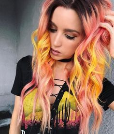 Grunge hairstyle color. LOVE the combination.