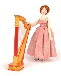 Make a 1:12 scale harp from cardboard - Dolls House Magazine - Crafts Institute
