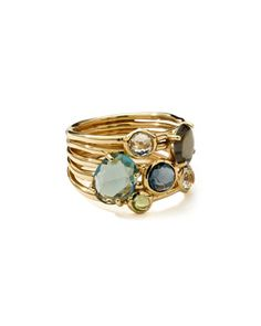 18k+Gold+Rock+Candy+Gelato+6-Stone+Cluster+Ring,+Tartan+by+Ippolita+at+Bergdorf+Goodman.