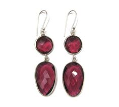 925 Sterling Silver Bezel Earring pair  Chekker by finegemstone, $30.00