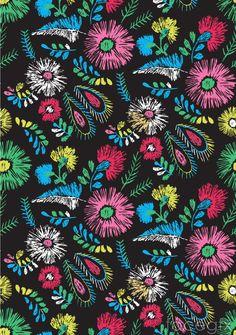 Retro lead-colored floral background vector