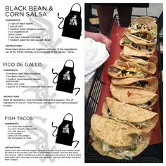 Pin and try making @Chicago White Sox Chef Olegario's Fish Tacos with Pico De Gallo and Black Bean & Corn Salsa.