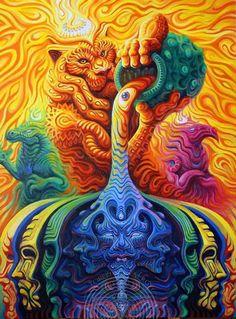 Psychedelic And Visionary Art🎨 ( Psychadelic Art, Acid Art, Psy Art, Hippie Art, Mystique, Visionary Art, Surreal Art, Fractal Art, Artist Art