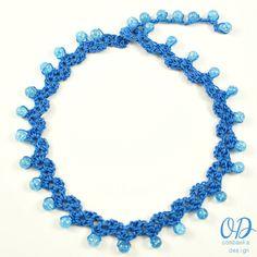 Sweetheart Beaded Choker | Crochet Necklace | Free Crochet Pattern @OombawkaDesign
