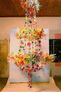 anthropologie mag pie chandelier, made from found objects