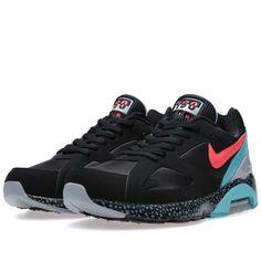 Nike Air Max 180 Black & Laser Crimson