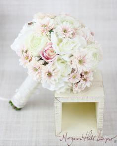 Silk Bride Bouquet Peony Peonies Roses Ranunculus by braggingbags, $110.00