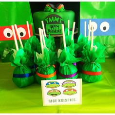Ninja Turtle Rice Krispies Pops!