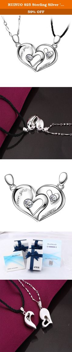 RUINUO 925 Sterling Silver 'Together' Heart Shape Magnetic Design Pendant Necklace Set for Lover Couple. RUINUO- Not only stylish... RUINUO Jewelry, we select the high-quality jewelry featured and offers Great values at Nice Price, they mainly made of high quality Titanium steel, 925 Silver,Leather and Germanite. Prepare a special gift for a loved one as a surprise that complements your personal style with jewelry from the RUINUO Jewelry. We are chasing for better than your expected all…