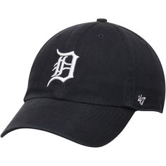 Men's Detroit Tigers '47 Brand Navy Basic Logo Clean Up Game Adjustable Hat  $21.99