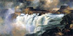 Shoshone Falls on the Snake River by Thomas Moran