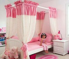 8172b576ce88 Image detail for -Girls Bedroom Decorating Ideas with Pink Canopy Curtains  Picture Pink Bedroom For